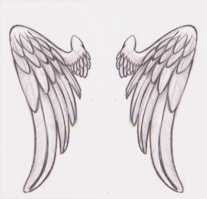 45 angel wings tattoo designs and images. Black Bedroom Furniture Sets. Home Design Ideas