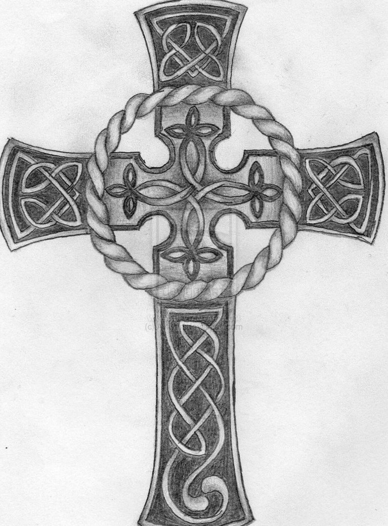 46 Celtic Cross Tattoos Designs