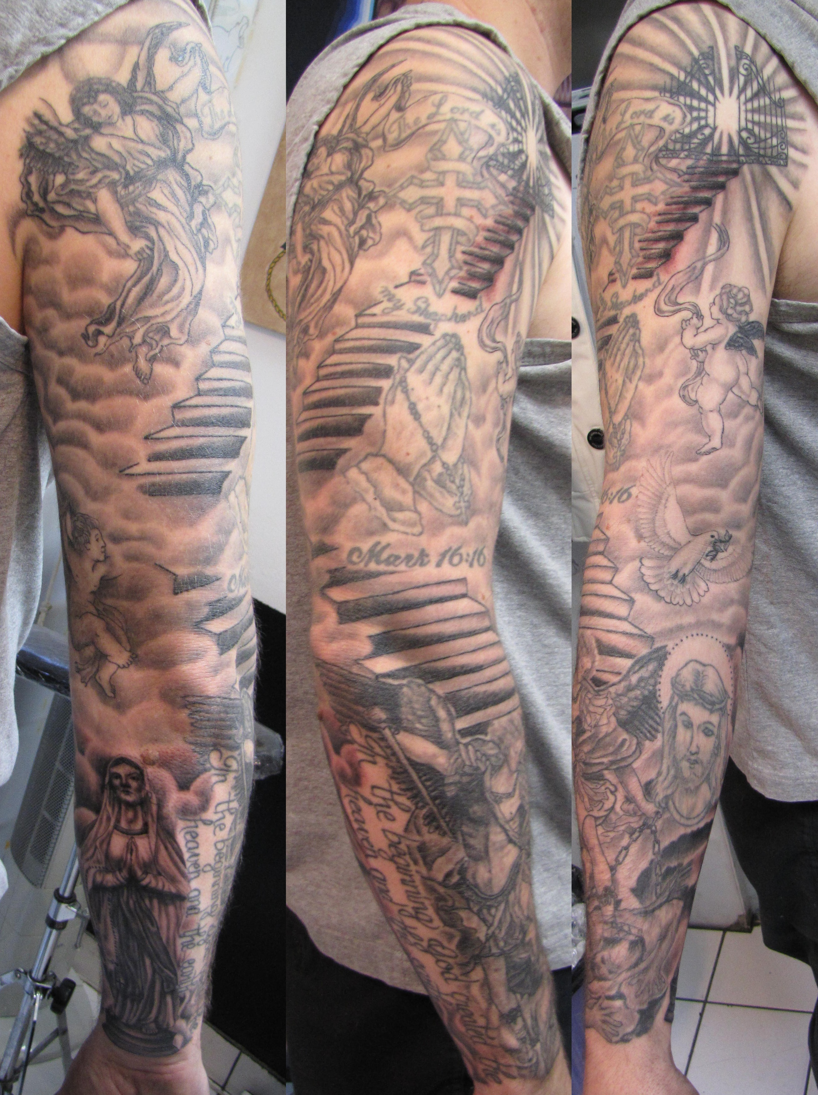 26 angel sleeve tattoos ideas for Tattoos for men on arm sleeves