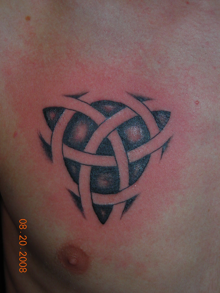 54 celtic knot tattoo designs and ideas grey ink celtic knot tattoo on chest for men biocorpaavc