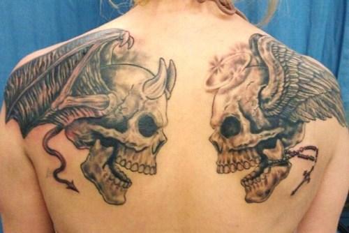 27 angel and demon tattoos. Black Bedroom Furniture Sets. Home Design Ideas