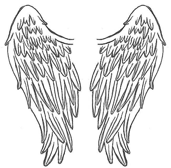 Inspiring Angel Wings Tattoo Design For Girls