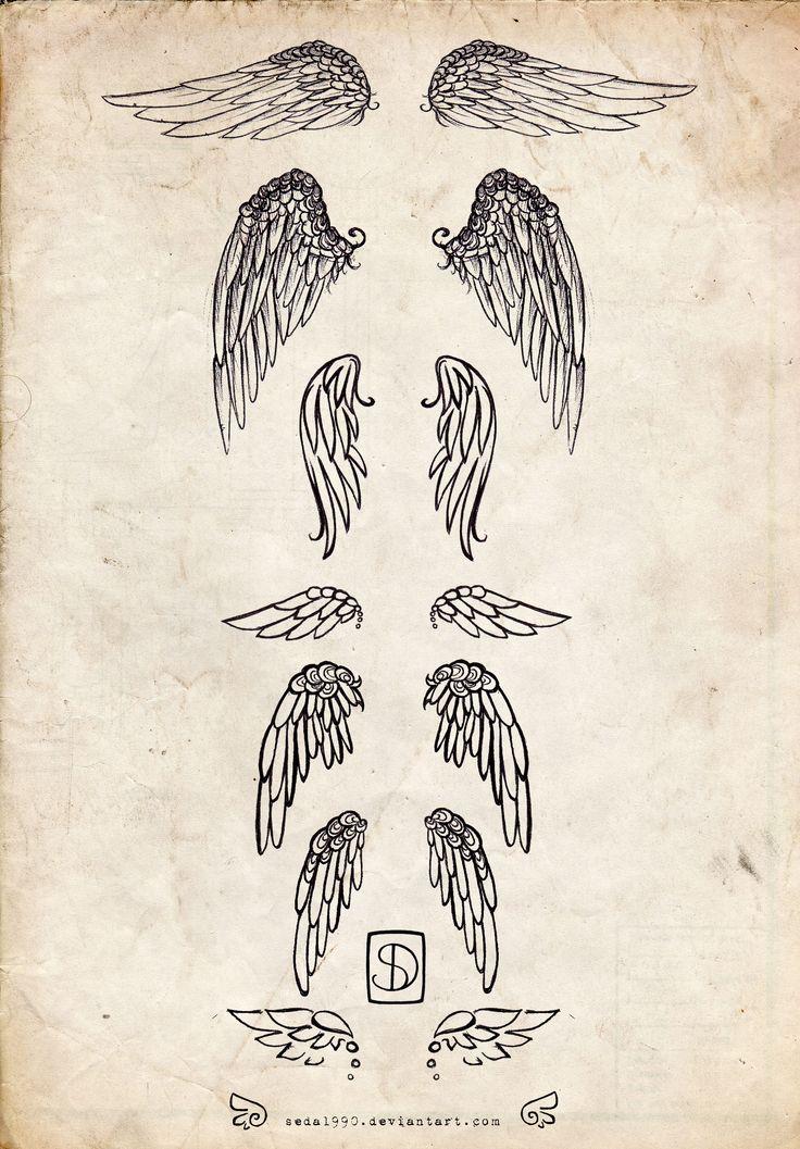 Nice Angel Wings Tattoo Design Samples