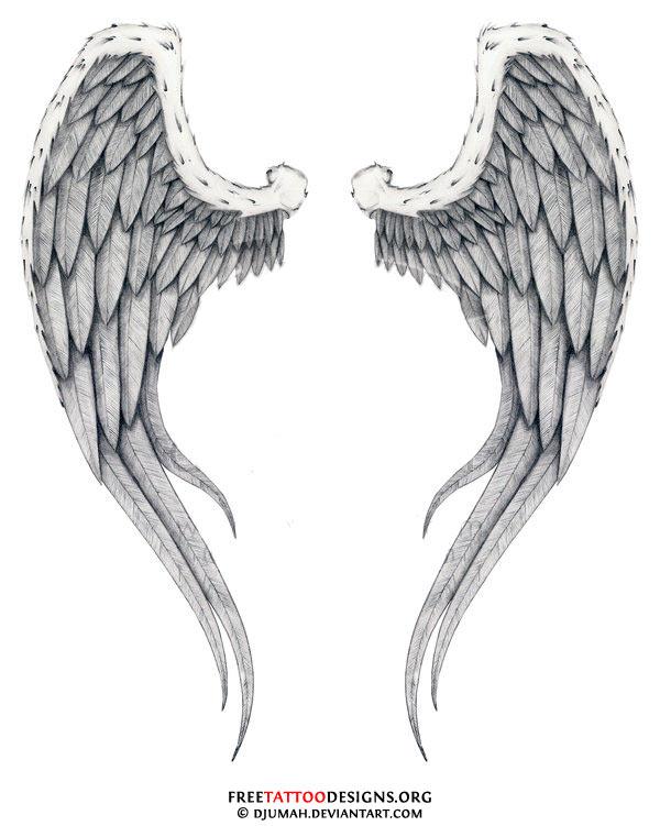 Nice Angel Wings Tattoos Designs