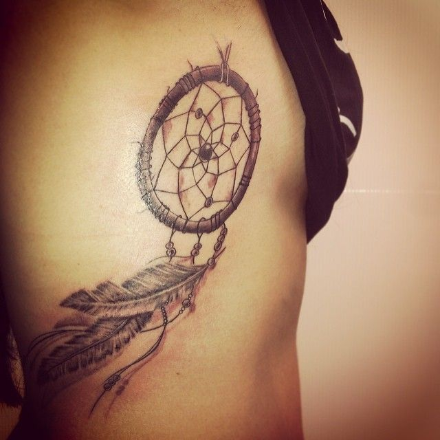 40 Dreamcatcher Tattoos On Ribs Best Dream Catcher Tattoo On Rib Cage