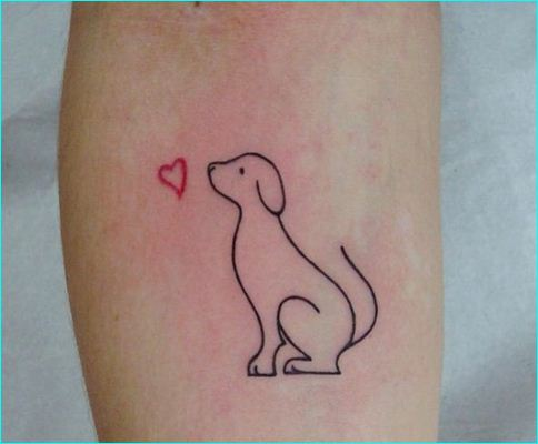 29 cute puppy tattoos. Black Bedroom Furniture Sets. Home Design Ideas