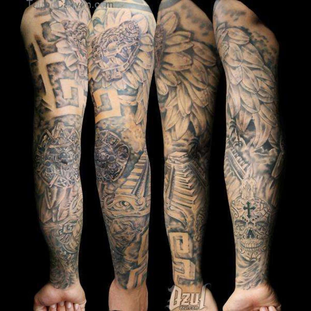 26+ Angel Sleeve Tattoos Ideas