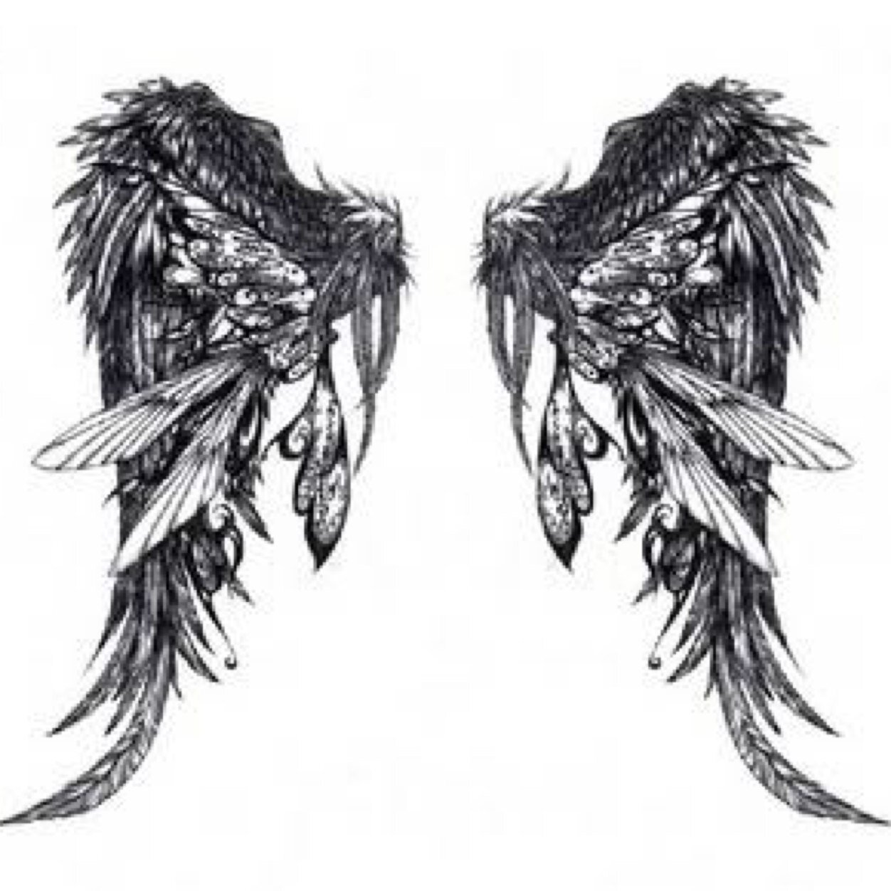 Gambar Angel Heart: 45+ Angel Wings Tattoo Designs And Images