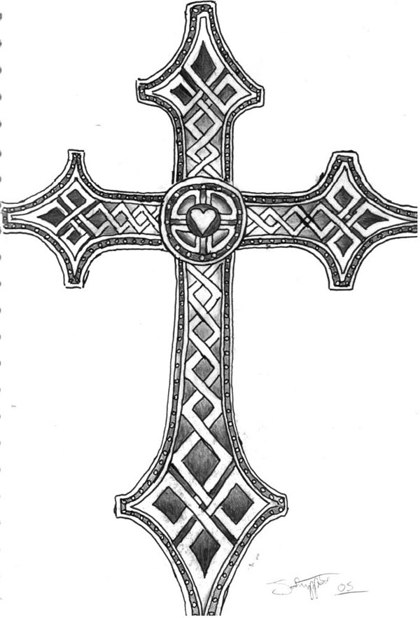 46 celtic cross tattoos designs. Black Bedroom Furniture Sets. Home Design Ideas