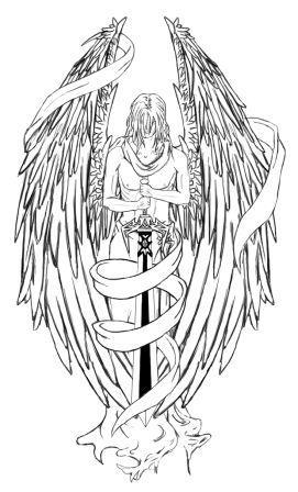 Skull Angel Wings Tattoos