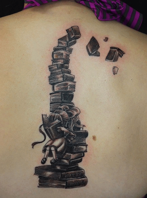 19 book tattoos images and pictures for Tattoo girl book