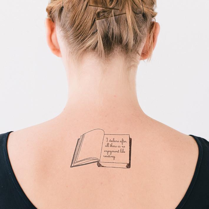 Book tattoos for Tattoo girl book