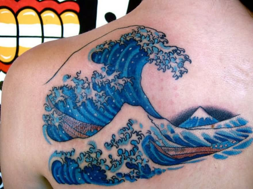 30 wave tattoo images and photos ideas