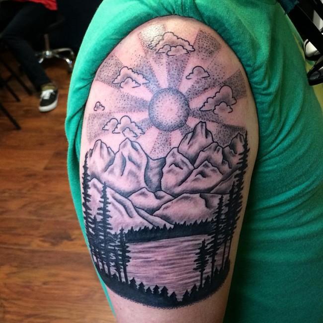 20 beautiful nature tattoos. Black Bedroom Furniture Sets. Home Design Ideas