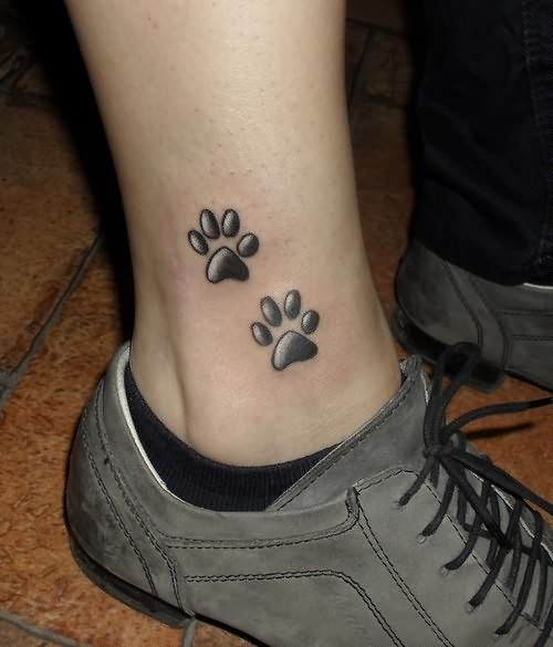 Paw Print Tattoos With Flowers: 37+ Puppy Paw Tattoos And Ideas