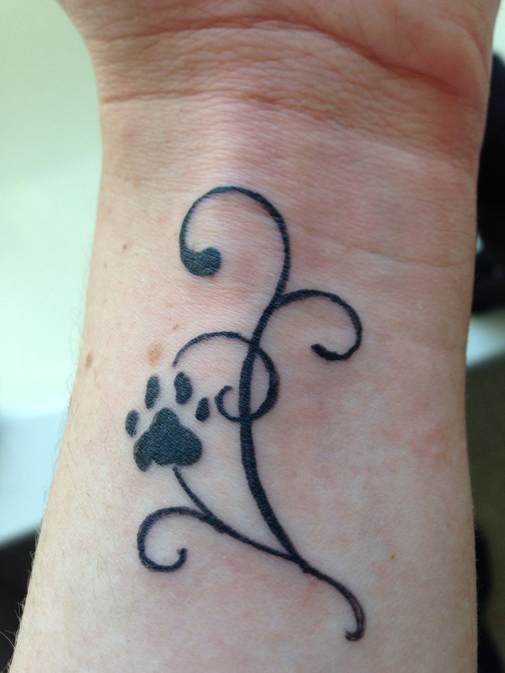 37 puppy paw tattoos and ideas. Black Bedroom Furniture Sets. Home Design Ideas
