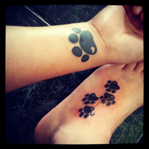 Paw Print Tattoos For Girls: 37+ Puppy Paw Tattoos And Ideas