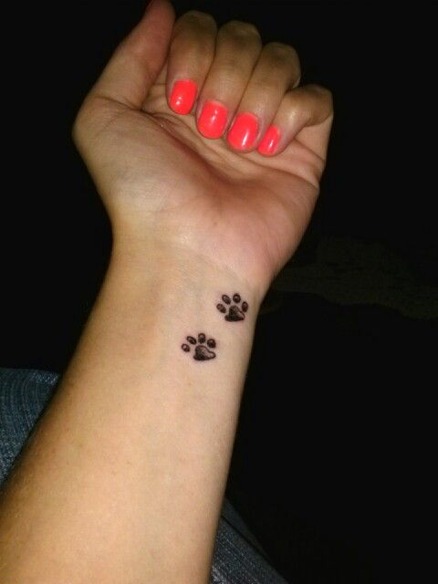 37 puppy paw tattoos and ideas rh askideas com puppy paw print tattoo designs Cat Paw Print Tattoos