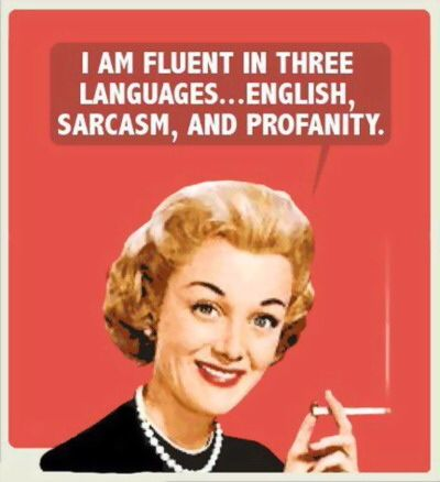 I Am Fluent In There Languages Funny Vintage Meme