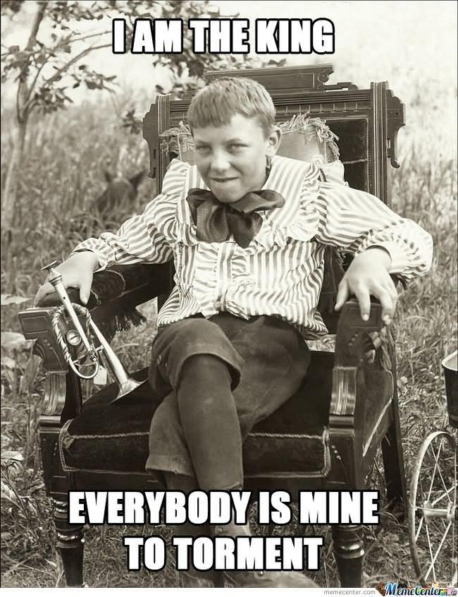 I Am The King Funny Vintage Boy Meme