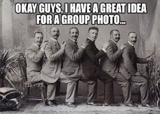 I Have A Great Idea For A Group Photo Funny Vintage Image