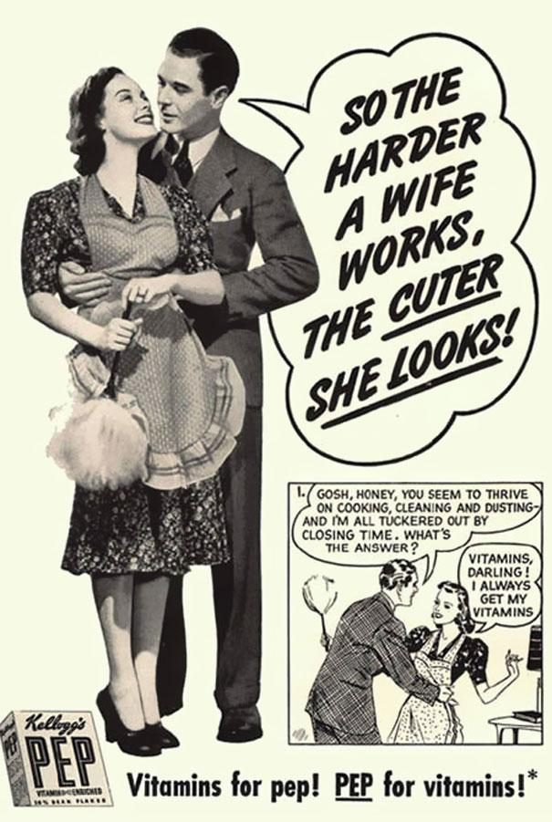 So The Harder A Wife Works Funny Vintage Meme