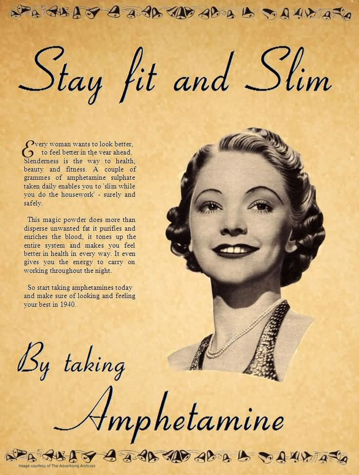 Stay Fit And Slim Funny Vintage Picture