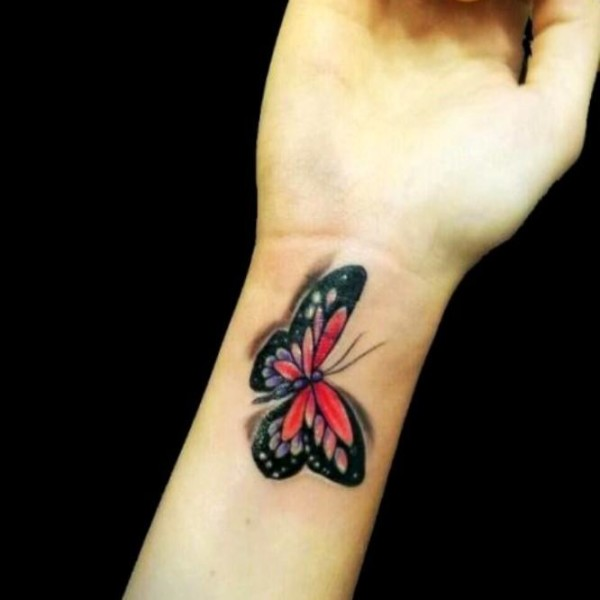 694118be1 43+ Awesome Butterfly Tattoos On Wrist