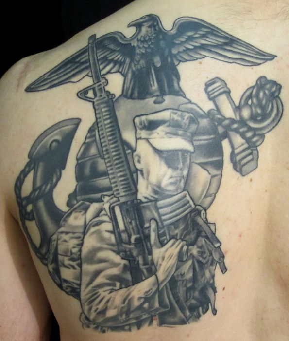 marine tattoo images galleries with a bite. Black Bedroom Furniture Sets. Home Design Ideas