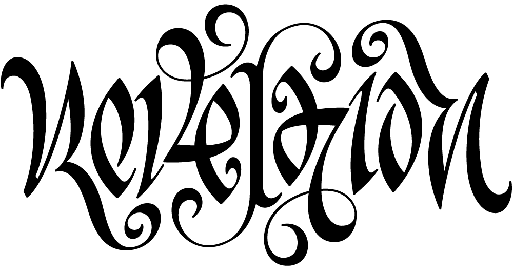 ambigram revelation lettering tattoo stencil by fli art. Black Bedroom Furniture Sets. Home Design Ideas
