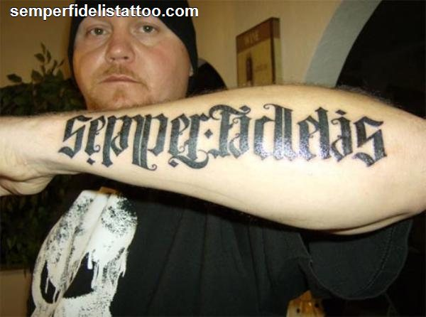 Fi tattoo semper Marine Corps