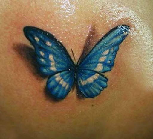 Awesome 3D Butterfly Tattoo
