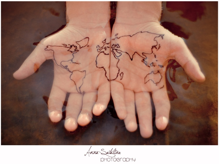 57 unique palm tattoo images and photos black outline world map tattoo on both hand palm gumiabroncs Choice Image