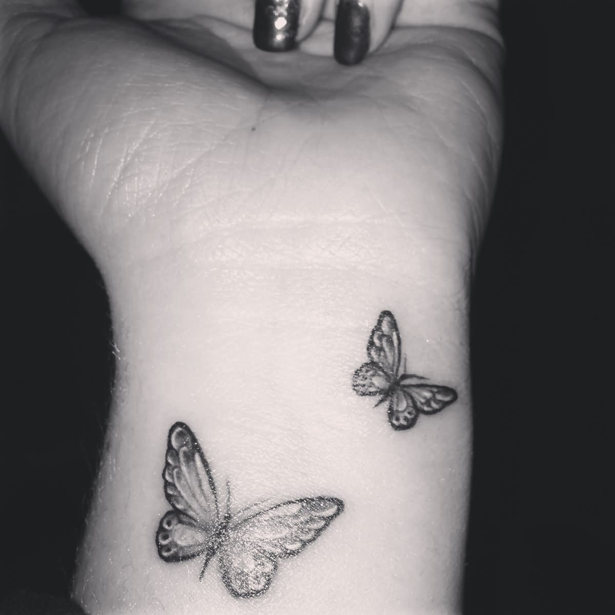 43 awesome butterfly tattoos on wrist. Black Bedroom Furniture Sets. Home Design Ideas