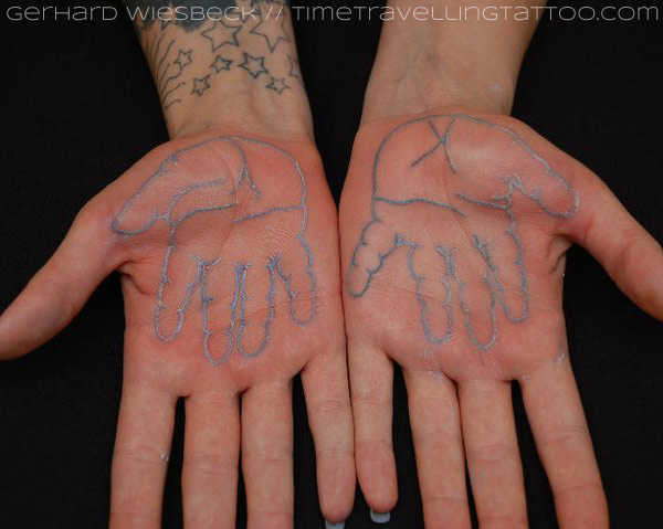 57 unique palm tattoo images and photos for Do tattoos on hands fade