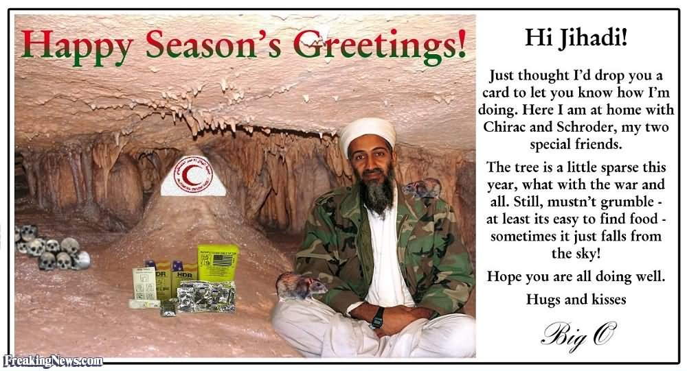 25 very funny greetings pictures and images happy seasons greetings funny osama bin laden m4hsunfo