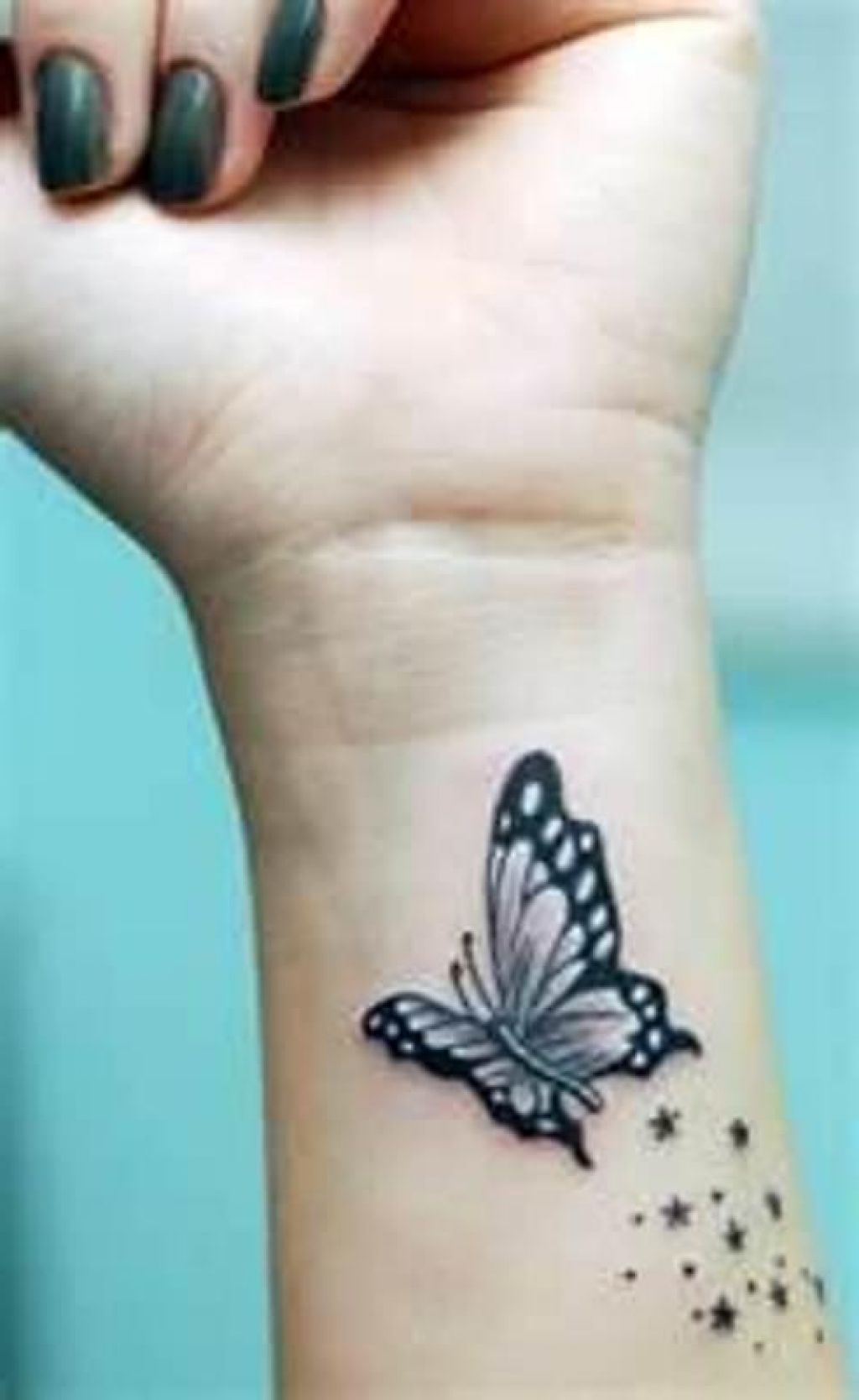 43 awesome butterfly tattoos on wrist for Butterfly tattoo wrist designs