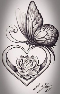 37 Inspiring Butterfly And Rose Tattoos
