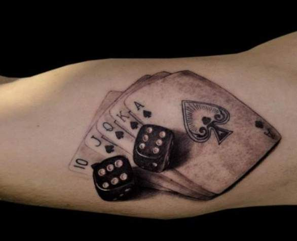13 poker tattoo designs images and ideas for Card tattoo designs