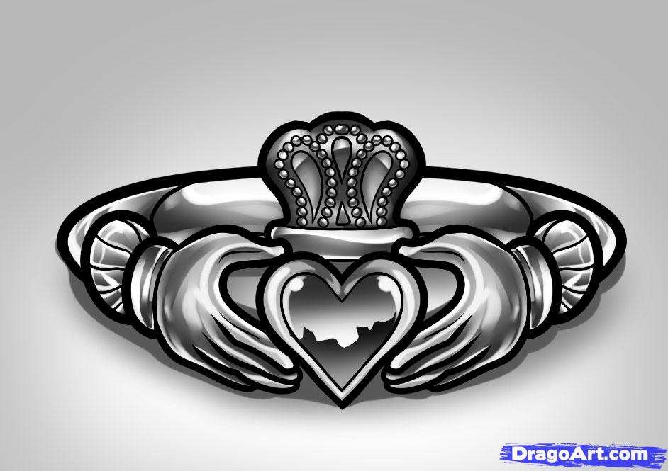 7 claddagh tattoo designs and ideas. Black Bedroom Furniture Sets. Home Design Ideas