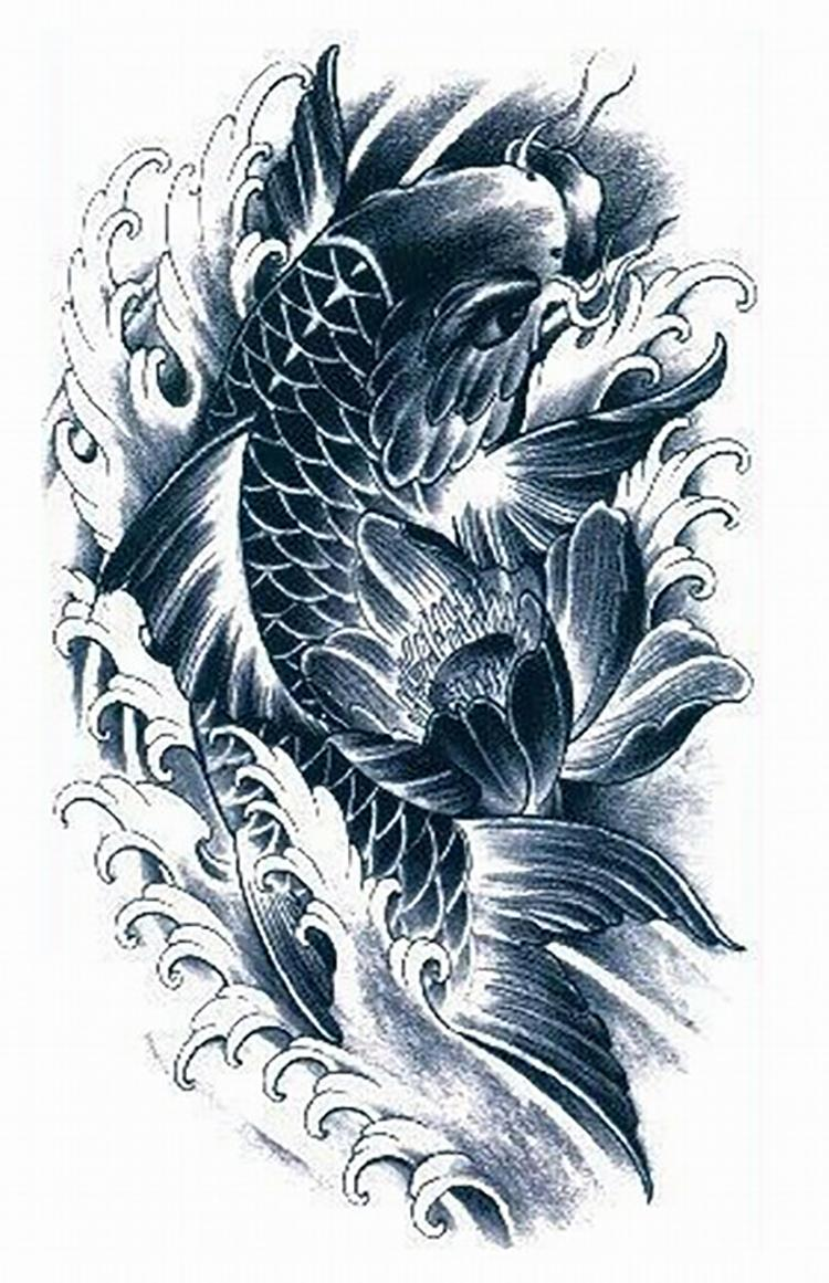 18 wonderful koi tattoo designs and ideas for Koi fish designs