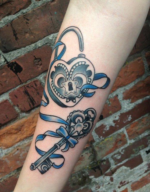 27+ Awesome Lock And Key Tattoos Ideas