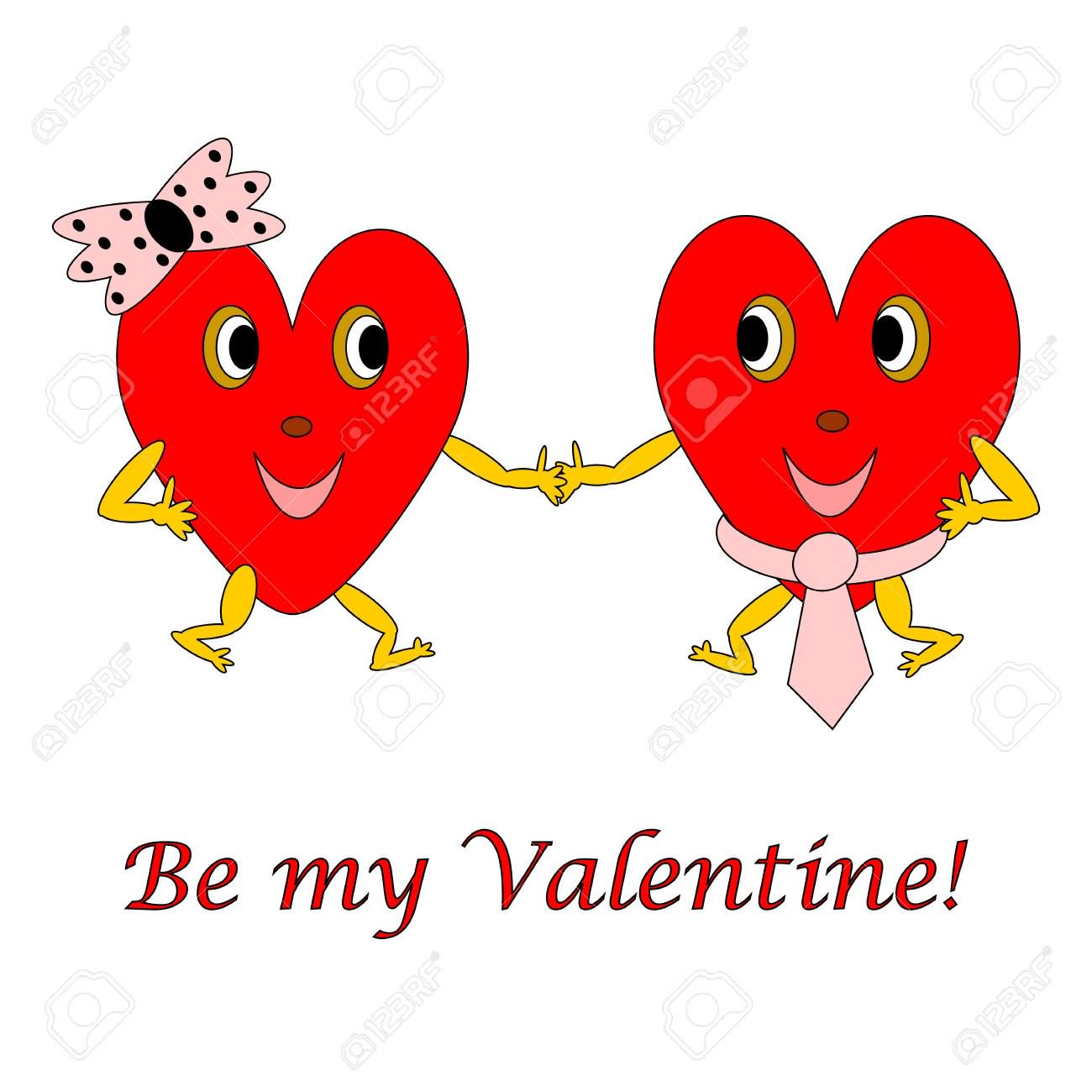 Be my valentine funny hearts - Animale san valentino clipart ...