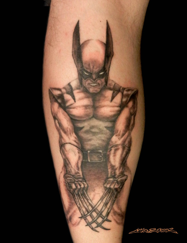 10 latest wolverine tattoo designs for Black claw tattoo