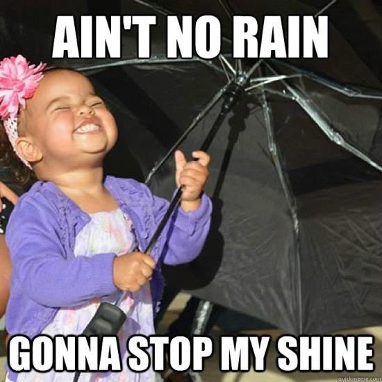 Black Baby With Umbrella Gonna Stop My Shine Funny Image