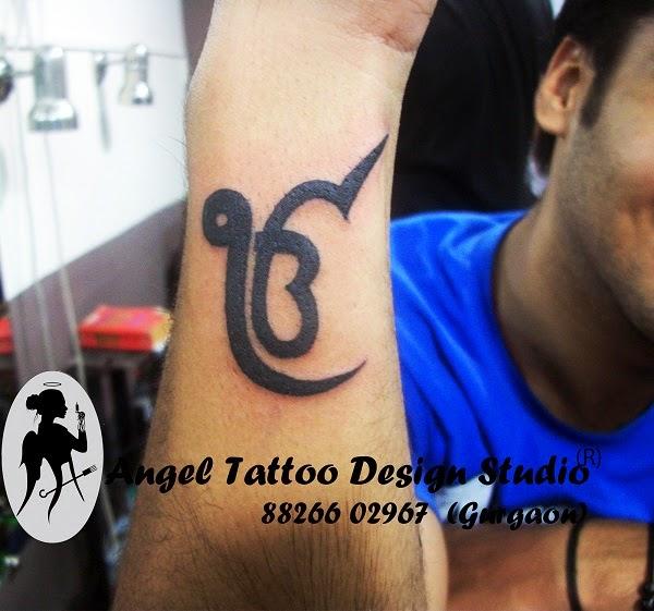 6d72ff1f6887f Black Ek Onkar Tattoo On Side Wrist