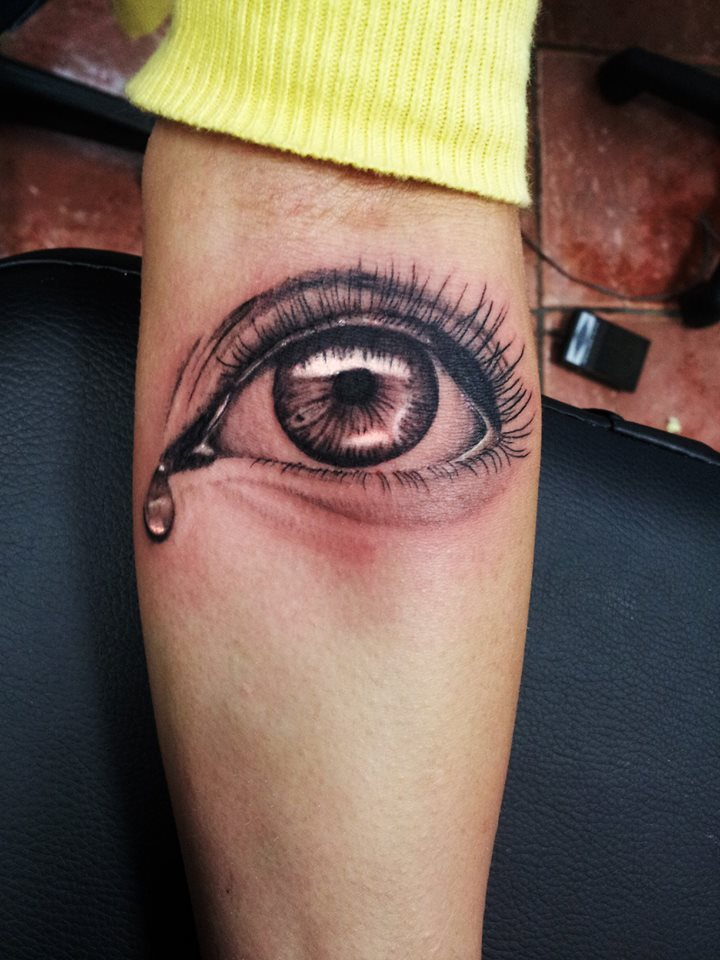 3 crying eye tattoos designs for Eye tattoo images
