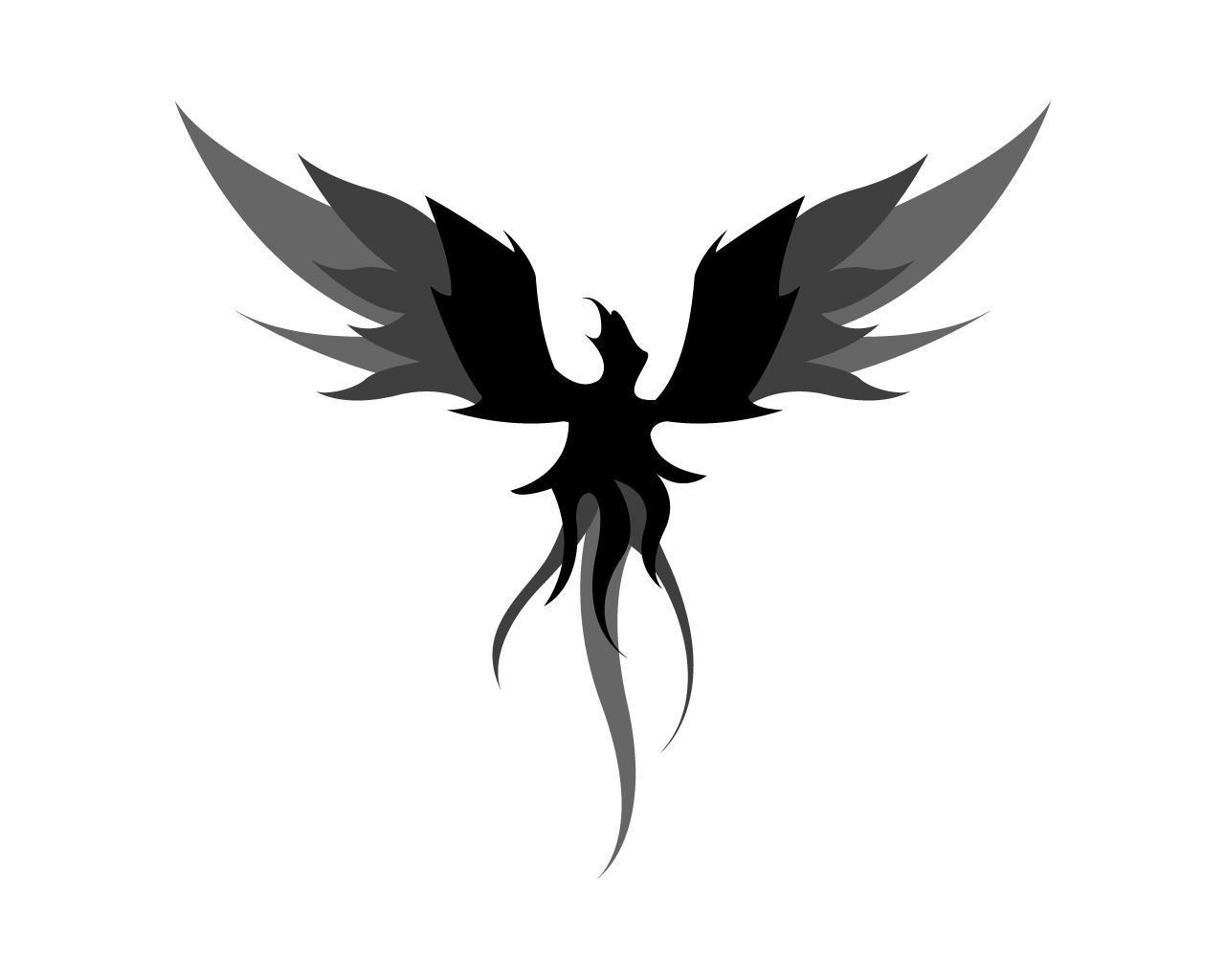 Phoenix tattoo for men - Black Ink Phoenix Tattoo Design By Clemjutsu