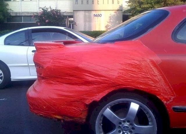Car Repair With Duct Tape Funny Image