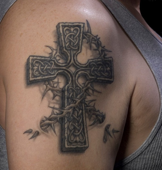 Famous cross tattoos